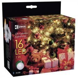 16 LED vánoční osvětlení - ball 3M IP20 denní světlo (doprava zdarma u objednávek nad 1000 Kč!)