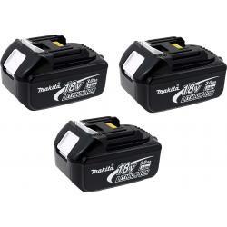 3 x aku baterie pro nářadí Makita Typ BL1830 3000mAh originál (3ks Set) (doprava zdarma!)