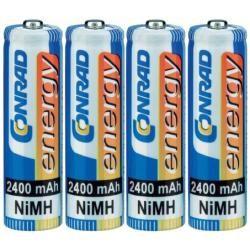 Akumulátor Conrad energy, NiMH AA, 2400 mAh, 4 ks (doprava zdarma u objednávek nad 1000 Kč!)