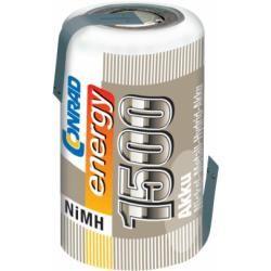 Akumulátor NiMH Conrad Energy 2/3 A, 1500 mAh, s pájecími kontakty (doprava zdarma u objednávek nad 1000 Kč!)