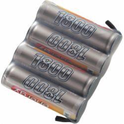 Akupack přijímače NiMH Conrad Energy AA, 4,8 V, 1800 mAh, Side by Side, s páj. hroty (doprava zdarma u objednávek nad 1000 Kč!)