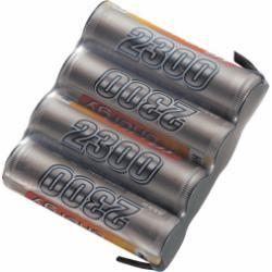 Akupack přijímače NiMH Conrad Energy AA, 4,8 V, 2300 mAh, Side by Side, s páj. hroty (doprava zdarma u objednávek nad 1000 Kč!)