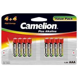baterie Camelion MN2400 HR03 Plus alkalická (4+4) 8ks balení originál (doprava zdarma u objednávek nad 1000 Kč!)