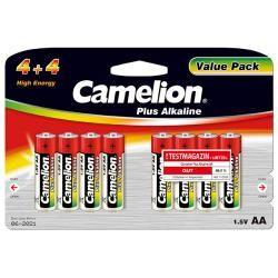 baterie Camelion tužková LR6 AA Plus alkalická (4+4) 8ks balení originál (doprava zdarma u objednávek nad 1000 Kč!)