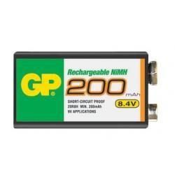 baterie GP 9V 200mAh NiMh (doprava zdarma u objednávek nad 1000 Kč!)