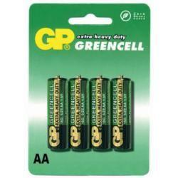 baterie GP AA tužková GreenCell 15G R6 4ks blistr (doprava zdarma u objednávek nad 1000 Kč!)