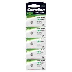 Camelion baterie pro hodinky,Taschenrechner SR60/SR60W/G1/LR621/364/164/SR621 5ks balení originál (d