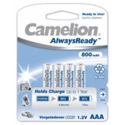 Camelion HR03 Micro AAA AlwaysReady, wieder aufladbare baterie, 4ks balení 800mAh originál (doprava zdarma u objednávek nad 1000 Kč!)