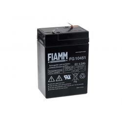 FIAMM náhradní baterie pro solární systémy, nouzové osvětlení, zabezpečovací systémy 6V 4 5Ah originál (doprava zdarma u objednávek nad 1000 Kč!)
