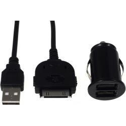 Mini auto-Ladeadapter vč. 30Pin Sync- & kabel pro iPod touch 3.-4. generace (doprava zdarma u objednávek nad 1000 Kč!)