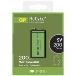 nabíjecí baterie GP ReCyko+ 9V 200mAh (doprava zdarma u objednávek nad 1000 Kč!)