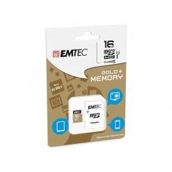 Paměťová karta EMTEC microSDHC 16GB blistr Gold+ Class 10 UHS-I (doprava zdarma u objednávek nad 1000 Kč!)