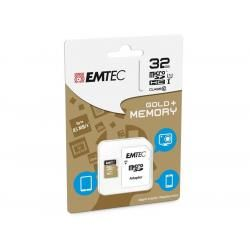 Paměťová karta EMTEC microSDHC 32GB blistr Gold+ Class 10 UHS-I (doprava zdarma u objednávek nad 1000 Kč!)