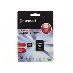 Paměťová karta Intenso microSDHC 8GB blistr Class 10 (doprava zdarma u objednávek nad 1000 Kč!)
