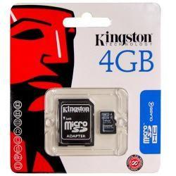 paměťová karta Kingston Micro SD 4GB class 4 blistr (doprava zdarma u objednávek nad 1000 Kč!)