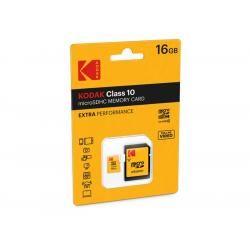 Paměťová karta KODAK microSDHC 16GB blistr Class 10 + adaptér SD (doprava zdarma u objednávek nad 1000 Kč!)