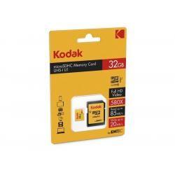 Paměťová karta KODAK microSDHC 32GB blistr Class 10 + adaptér SD (doprava zdarma u objednávek nad 1000 Kč!)