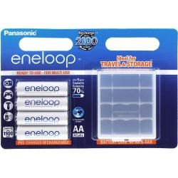 Panasonic eneloop aku AA - 4ks-balení + Schutzbox (BK-3MCCEC4BE) originál (doprava zdarma u objednávek nad 1000 Kč!)
