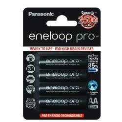 Panasonic eneloop Pro BK-3HCDE/4BE 2500mAh 4ks balení originál (doprava zdarma u objednávek nad 1000 Kč!)