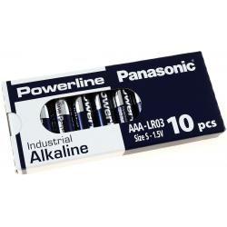 Panasonic Powerline Industrial alkalická AAA LR03AD LR03 1,5V 10ks balení originál (doprava zdarma u