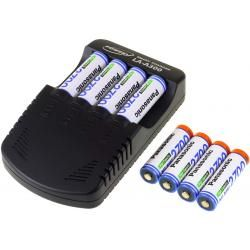 Powery nabíječka pro NiMH /NiMH/ 9V-Block-aku vč. 8x AA 2700mAh Panasonic (doprava zdarma!)