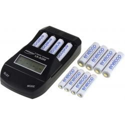 Powery nabíječka pro NiMH / NiMH- AA/AAA aku vč. 4x AA 1900mAh + 8x AAA 750mAh Panasonic eneloop (doprava zdarma!)