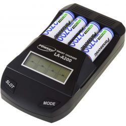 Powery nabíječka pro NiMH / NiMH- AA/AAA aku vč. 4x AA 2700mAh Panasonic (doprava zdarma!)