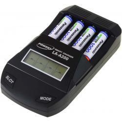 Powery nabíječka pro NiMH / NiMH- AA/AAA aku vč. 4x AAA 930mAh Panasonic (doprava zdarma!)