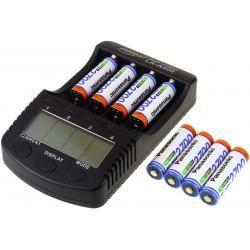 Powery nabíječka pro NiMH/NiMH- Li-Ion aku vč. 8xAA 2700mAh Panasonic (doprava zdarma!)