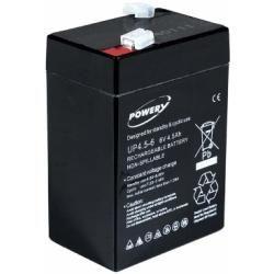 Powery náhradní baterie pro invalidní vozíky / skútr / elektro autíčka 6V 4,5Ah (nahrazuje také 4Ah 5Ah) (doprava zdarma u objednávek nad 1000 Kč!)