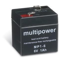 Powery olověná baterie (multipower) MP1-6 (doprava zdarma u objednávek nad 1000 Kč!)