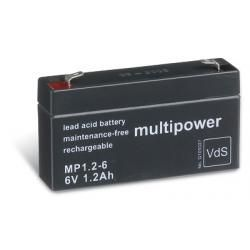 Powery olověná baterie (multipower) MP1,2-6 VdS (doprava zdarma u objednávek nad 1000 Kč!)