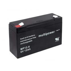 Powery olověná baterie (multipower) MP12-6 (doprava zdarma u objednávek nad 1000 Kč!)
