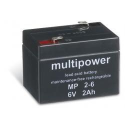 Powery olověná baterie (multipower) MP2-6 (doprava zdarma u objednávek nad 1000 Kč!)