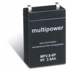 Powery olověná baterie (multipower) MP2,8-6P (doprava zdarma u objednávek nad 1000 Kč!)