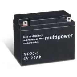 Powery olověná baterie (multipower) MP20-6 (doprava zdarma!)