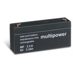 Powery olověná baterie (multipower) MP3,3-6 (doprava zdarma u objednávek nad 1000 Kč!)