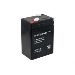 Powery olověná baterie (multipower) MP4.5-6 6V Lead-Acid pro Hobby Camping Kinderfahrzeug Peg Perego (doprava zdarma u objednávek nad 1000 Kč!)
