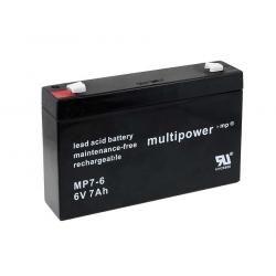 Powery olověná baterie (multipower) MP7-6 (doprava zdarma u objednávek nad 1000 Kč!)