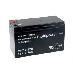 Powery olověná baterie (multipower) MP7,2-12B VdS kompatibilní s YUASA Typ NP7-12L (doprava zdarma u objednávek nad 1000 Kč!)