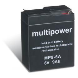 Powery olověná baterie (multipower) MP9-6A (doprava zdarma u objednávek nad 1000 Kč!)