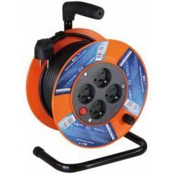 PVC prodlužovací kabel na bubnu - 4 zásuvky 15m (doprava zdarma u objednávek nad 1000 Kč!)