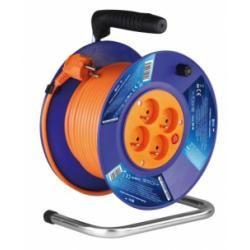 PVC prodlužovací kabel na bubnu - 4 zásuvky 50m (doprava zdarma!)