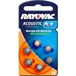 Rayovac Extra Advanced baterie pro naslouchátko Typ 13AE 6ks balení originál (doprava zdarma u objednávek nad 1000 Kč!)
