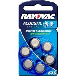 Rayovac Extra Advanced baterie pro naslouchátko Typ 675AE 6ks balení originál (doprava zdarma u objednávek nad 1000 Kč!)