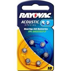 Rayovac Extra Advanced baterie pro naslouchátko Typ V10AT 6ks balení originál (doprava zdarma u objednávek nad 1000 Kč!)