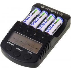 shopronic nabíječka pro NiMH/NiCd AA-AAA aku vč.4x AA 2700mAh Panasonic aku (doprava zdarma!)