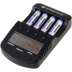 shopronic nabíječka pro NiMH/NiCd AA-AAA aku vč.4x AAA 930mAh Panasonic aku (doprava zdarma!)