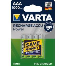 Varta Accu Rechargeable aku Micro AAA NiMH 4ks balení 1000mAh originál (doprava zdarma u objednávek nad 1000 Kč!)