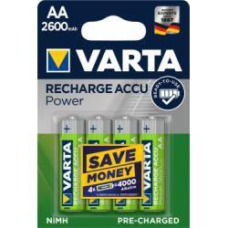 Varta Power aku Ready2Use HR6 Migon AA 4ks balení 2600mAh originál (doprava zdarma u objednávek nad 1000 Kč!)